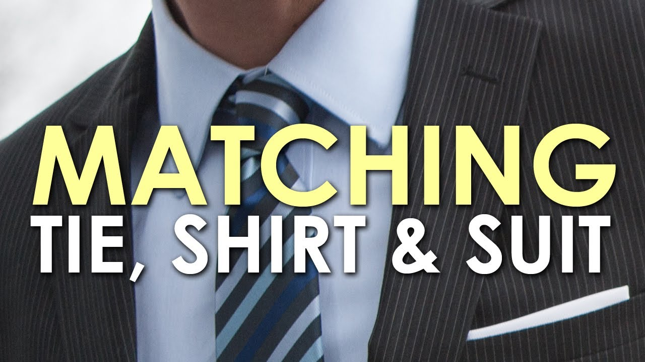 How to match a tie shirt and suit for How to match shirt and tie
